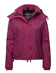 POP ZIP HOOD ARCTIC WNDCHEATER - RASPBERRY/BLACK