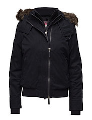 MICROFIBRE FUR HOOD WINDBOMBER - SUPER DARK NAVY