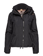 TECH HOODED POP ZIP WNDCHEATER - BLACK/LUREX GEMSTONE