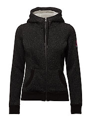SUPERDRY STORM ZIPHOOD - BLACK GRITTY MARL