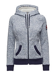 SUPERDRY STORM ZIPHOOD - PENN MARL BLUE