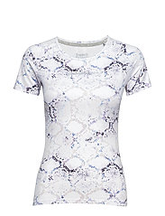 SUPERDRY CORE GYM TEE - WHITE PYTHON