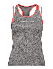SUPERDRY GYM DUO STRAP VEST - CHARCOAL GRIT