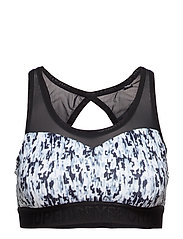 SUPERDRY GYM MESH SPORTS BRA - ABSTRACT BLUR MONO