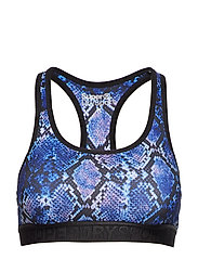 SUPERDRY CORE GYM BRA - PURPLE PYTHON