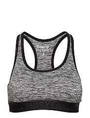 SUPERDRY CORE GYM BRA - SPECKLE CHARCOAL