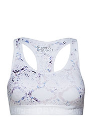 SUPERDRY CORE GYM BRA - WHITE PYTHON