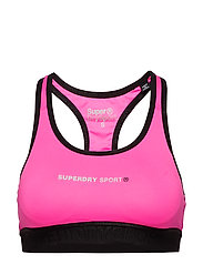 SUPERDRY CORE GYM BRA - NEON PINK