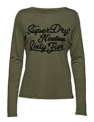 DARLA GRAPHIC TOP - WASHED KHAKI