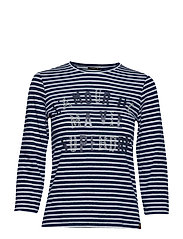 JESSA GRAPHIC TOP - REGAL BLUE STRIPE