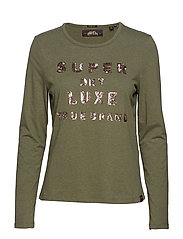 LORRI SEQUIN TOP - WASHED KHAKI