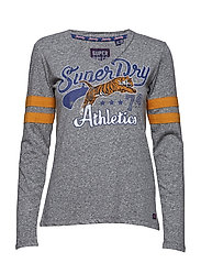 MINA GRAPHIC TOP - FOLK GREY