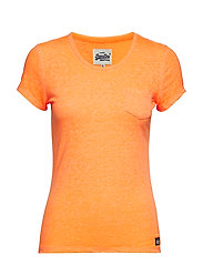 ORANGE LABEL BURNOUT TEE - SNOWY FLURO CORAL