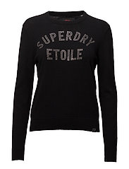 SUPERDRY GEMSTONE KNIT - BLACK