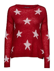MYLEE STAR KNIT - RED/CREAM