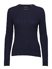 LUXE MINI CABLE KNIT - RICH NAVY