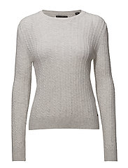 LUXE MINI CABLE KNIT - ICE MARL