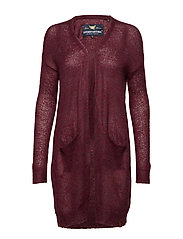 ALPNA LONGLINE CARDIGAN - RICH PORT