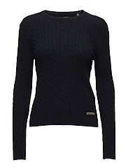 LUXE MINI CABLE KNIT - NAVY