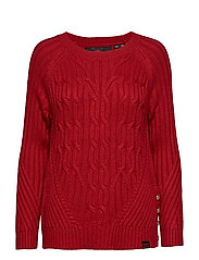 HESTER CABLE JUMPER - DEEP CHERRY