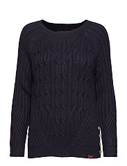 HESTER CABLE JUMPER - MARINA NAVY