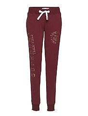 TRACK & FIELD JOGGERS - TRACK BURGUNDY
