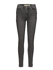 SUPER CRAFTED- SKINNY MID RISE - GREY NERO