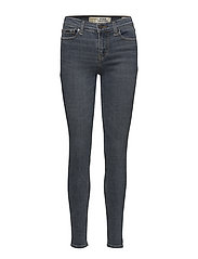 SUPER CRAFTED- SKINNY MID RISE - SMOKEY BLUE