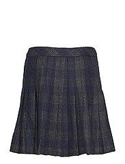 fc26cfcda Josie Pleated Tweed Skirt (Navy Charcoal Check) (£22.50) - Superdry ...