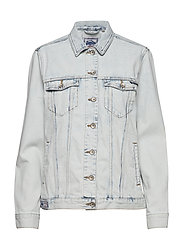 DENIM LONG LINE JACKET - ACID LIGHT WASH