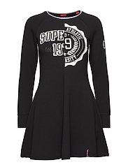 KEREN FIT AND FLARE DRESS - BLACK