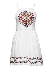KATALINA APRON DRESS - WHITE MULTI