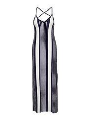 AZUR STRIPE MAXI DRESS - NAUTICAL NAVY STRIPE