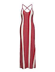 AZUR STRIPE MAXI DRESS - RED STRIPE