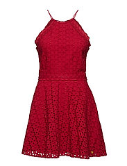 TEAGAN HALTER DRESS - NAUTICAL RED