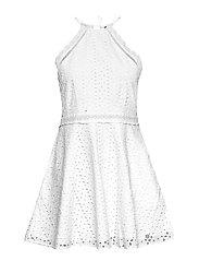 TEAGAN HALTER DRESS - WHITE