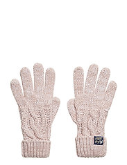 ARIZONA CABLE GLOVES - SANDY PINK TWIST