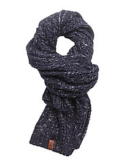 NEBRASKA CABLE SCARF - NAVY SPARKLE