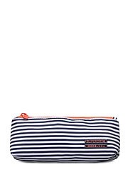SUPER PENCIL CASE - NAVY THIN STRIPE