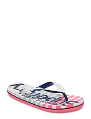 EVA STRIPE FLIP FLOP - OPTIC WHITE/MIAMI OMBRE STRIPE