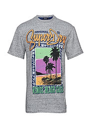 ACID PACIFICA BOXY TEE - TRACK GREY GRINDLE