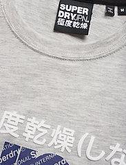Superdry - CORE SPLIT LOGO TEE - kortermede t-skjorter - collective light marl - 2
