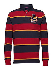 ACADEMY L/S RUGBY - RED STRIPE