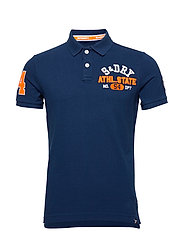 CLASSIC SUPERSTATE S/S POLO - PILOT MID BLUE