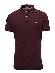CLASSIC S/S PIQUE POLO - BOSTON BURGUNDY MARL