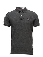 CLASSIC S/S PIQUE POLO - CINDER GREY GRIT