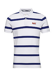 BEACH VOLLEYBALL POLO - OPTIC/COBALT