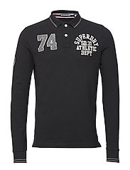 CLASSIC SUPERSTATE L/S POLO - BLACK