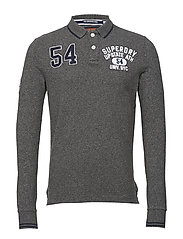 CLASSIC SUPERSTATE L/S POLO - CINDER GREY GRIT