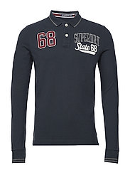 CLASSIC SUPERSTATE L/S POLO - ECLIPSE NAVY
